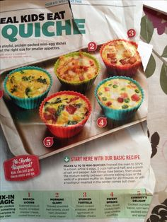Mini quiche - good idea for toddler breakfast or lunch
