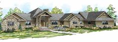 Craftsman House Plan with 5110 Square Feet and 4 Bedrooms(s) from Dream Home Source | House Plan Code DHSW72988