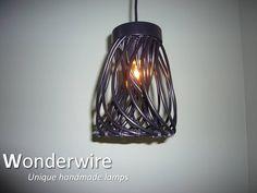 Een persoonlijke favoriet uit mijn Etsy shop https://www.etsy.com/listing/289184299/wiretwister-black-medium-pendant-lamp