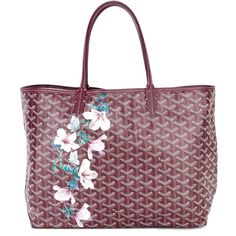 Multicoloured leather floral printed tote from Goyard Vintage featuring round top handles, an open top design and an internal purse detail . Please note that vintage items are not new and therefore might have minor imperfections. Vintage Bags, Vintage Floral, Leather Purses, Red Leather, Vintage Leather, Leather Handbags, Goyard Tote, Online Shopping For Women, Tote Handbags