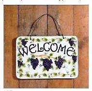 "Amadora white grape wall plaque "" welcome sign"" CASAVERO http://www.amazon.com/dp/B008AYNL2C/ref=cm_sw_r_pi_dp_mBPbub0S4AK46"
