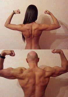 永久保存版。マッチョ系の男と女の背筋の違い。同じく描いちゃつまらんと思うよ!