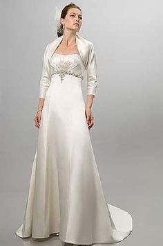 Grown up weddings on pinterest older bride second for Appropriate wedding dresses for second marriage