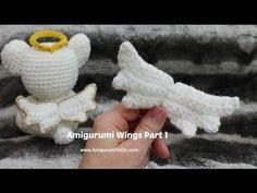 Crochet Angel Wings Part 1 - YouTube
