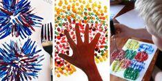 12 techniques de peinture à essayer avec les enfants - Brico enfant - Trucs et Bricolages Triangle, Playing Cards, About Me Blog, Childhood, Activities, Games, Deco, Christmas, Kids