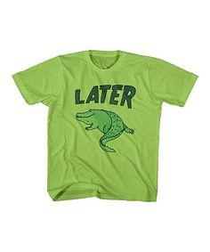 Key Lime 'Later' Alligator Tee - Toddler & Boys