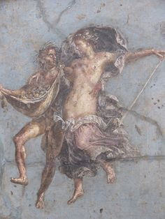 Ancient Roman fresco from the National Archaeological Museum of Naples