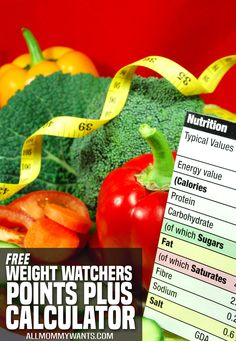 Free Weight Watchers Points Plus Calculator | All Mommy Wants