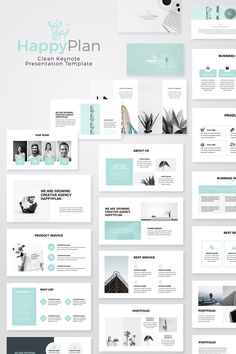 Happyplan Minimal Presentation PowerPoint Template 76456 is part of eye-makeup - Happyplan Minimal PowerPoint Presentation TemplateClean, Creative and modern Presentation Template Fully customisation & super easy to use to fit any kind of Keynote Design, Design Brochure, Powerpoint Slide Designs, Powerpoint Design Templates, Keynote Template, Booklet Design, Flyer Template, Modern Powerpoint Design, Presentation Layout