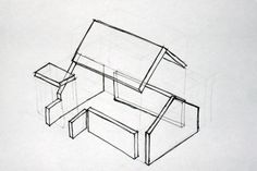 Exploded view design drawing for hedgehog house