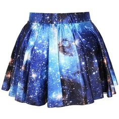 Women Galaxy Blue Skater Skirt:Amazon:Clothing