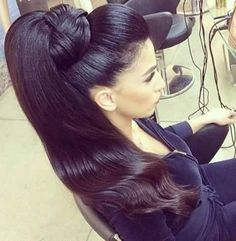 Plaited Ponytail, Long Hair Ponytail, Indian Long Hair Braid, Braids For Long Hair, Ponytail Hairstyles, High Ponytails, Updos, Goddess Hairstyles, Indian Hairstyles