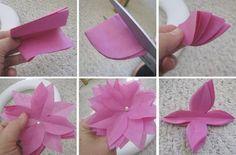 Flor em papel de seda