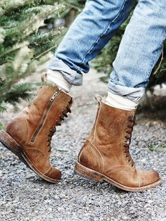 """""""Ah, the pitter-patter of tiny feet in huge combat boots..."""" -Mal, Firefly  Free People Fletch Lace Up Boot, $198.00"""
