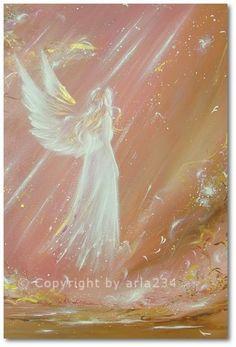 Limited angel art photo, modern angel painting, artwork, acrylics, Engelbild, moderne Engel, Bild on Etsy, $13.90