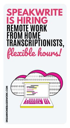 Interested in data entry? Working from home in data entry and transcription really offers more flexibility and is a great fit for anyone who has experience in typing. Speakwrite is a company that recruits for both general and legal transcription jobs from home. Here is my full review! #nowhiring #transcriber #workathome Work From Home Typing, Work From Home Jobs, Transcription Jobs From Home, Home Based Work, Customer Service Jobs, Typing Jobs, Jobs For Teens, Virtual Assistant Jobs, Freelance Writing Jobs