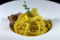 Le mie ricette - Spaghetti con crema di carote, Asiago mezzano DOP e coppa di testa