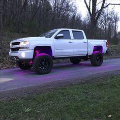 2016 Chevy Silverado 1500 pink rock lights