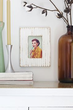 DIY tutorial: textured picture frame