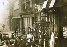 Sylvia Pankhurst. Old Ford Road, Bow. 1912. #london.