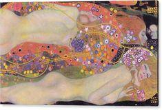 Water Serpents II by Gustav Klimt Acrylic Box by Klimt Gallery - 4 X 4 X 3 Most Expensive Painting, Expensive Art, Gustav Klimt Judith, Vincent Van Gogh, Klimt Prints, Thing 1, Mark Rothko, Jackson Pollock, Art Plastique
