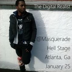 I'll be performing live in Atlanta, Ga. new year. New music. Tickets available www.AftonShows.com/DigitalRealist