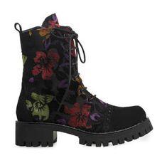 ΓΥΝΑΙΚΕΙΑ ΜΠΟΤΑΚΙΑ SAGIAKOS (BLACK FLOWER) Combat Boots, Winter, Shoes, Black, Women, Fashion, Moda, Combat Boot, Zapatos