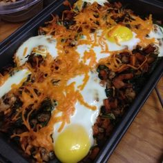 Ripped Recipes - Sweet Potato Frittata because a fried egg belongs on EVERYTHING Onion Recipes, Egg Recipes, Clean Recipes, Cooking Recipes, Healthy Recipes, Healthy Breakfasts, Sweet Potato Frittata, Sweet Potato Waffles, Ripped Recipes