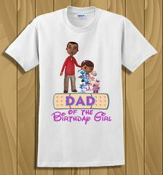 Personalized Doc McStuffins Iron On Transfer, Dad of The Birthday Girl, Customized Birthday Transfer by tshirtirononshop on Etsy