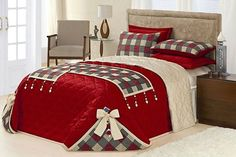 Paso a paso como hacer cubre camas navideños muy simples y fáciles Bedroom Decor, Decor, Bed Cover Design, Bed Decor, Luxury Bedding, Bed, Christmas Decorations Bedroom, Bed Styling, Soft Furnishings