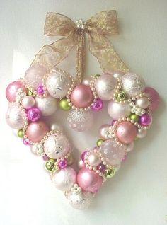 christmas heart wreath…love ❤