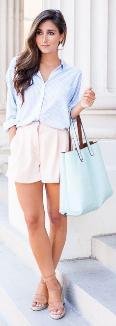 #nude #neutrals #spring #style #outfitideas |Light Blue + Nude + Mint |the Darling Detail