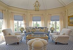 Traditional Living Photos Blue And White Interiors Design, Pictures, Remodel, Decor and Ideas - page 4