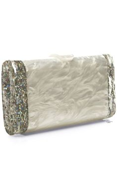 Edie Parker ● Pearlescent Acrylic Clutch