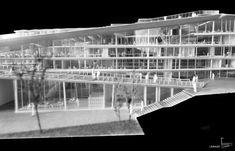SUPSI Campus Project,© Kengo Kuma and Associates