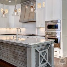 Stonecroft Homes | Portfolio - Gorgeous gray and white kitchen with subway backsplash and weathers gray island