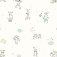 Mint Wallpaper, Star Wallpaper, Nursery Wallpaper, Wallpaper Online, Art House, Moon Nursery, Nursery Room, Boy Room, Girl Nursery