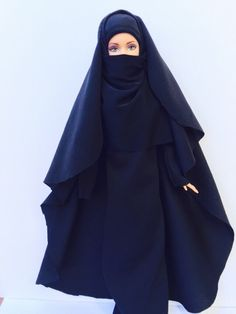 A personal favorite from my Etsy shop https://www.etsy.com/listing/270569702/niqab-chador-hijab-islamic-barbie-doll