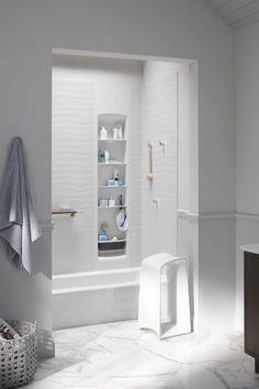 Choreograph lets you create a bath/shower that's comfortable and convenient for everyone in the family. http://www.us.kohler.com/us/Choreograph-Shower-Wall-and-Accessory-Collection/content/CNT116700120.htm?subSecId=CNT116700122