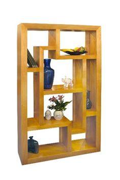 Mueble biblioteca escalonada repisa o divisor de ambientes - Libreros de madera modernos ...