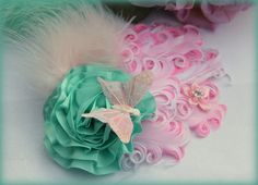 Spring Butterfly Garden Marie Antoinette pink and by Hairfetti, $18.50