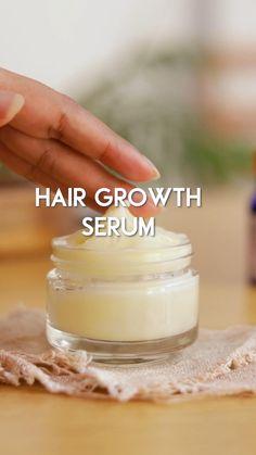 Hair Growth Oil, Natural Hair Growth, Natural Hair Styles, Diy Hair Growth Serum, Homemade Hair Treatments, Diy Hair Treatment, Natural Hair Treatments, Hair Growing Tips, Grow Hair