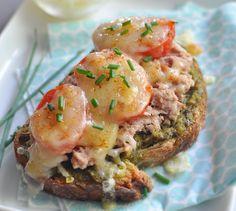 Recette Bruschetta thon & tomates cerises  (difficulté Très facile) . Découvrez comment préparer votre Plat principal sur EnvieDeBienManger.fr