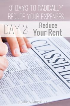 Did you know you CAN save money on rental payments, even after you`ve signed a contract? Talk to your landlord and try one of these five ideas. #1 is definitely the most important!  {31 Days to Radically Reduce Your Expenses, Day 2}