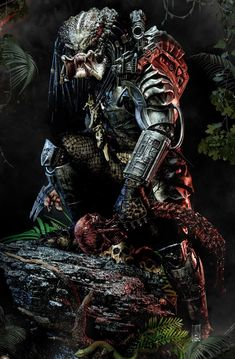 Predator Movie, Alien Vs Predator, Arte Horror, Horror Art, Arm Tattoos Black And White, Futuristic Armour, Alien Design, Dark Art Drawings, Robot Concept Art