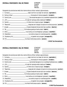 Use this assessment after teaching preterite of regular - AR verbs. Ap Spanish, Spanish Grammar, Spanish Teacher, Spanish Classroom, Teaching Spanish, Preterite Spanish, Middle School Spanish, France, Graphic Organizers