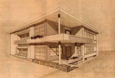Ferreira Alves's House; Costa da Caparica. Bento d´Almeida, Victor Palla architects. c.1953