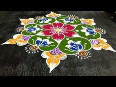 Indian Rangoli Designs, Rangoli Designs Latest, Rangoli Designs Flower, Rangoli Designs With Dots, Beautiful Rangoli Designs, Free Hand Rangoli, Simple Rangoli, Merry Christmas Gif, Steel Gate Design