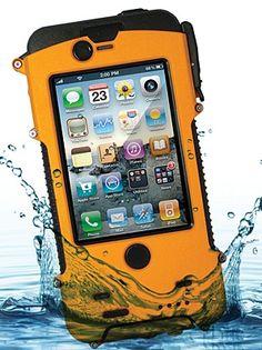 Solar-Powered, Waterproof iPhone Case  http://www.snowlizardproducts.com