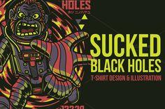 Sucked Black Holes Illustration  @creativework247